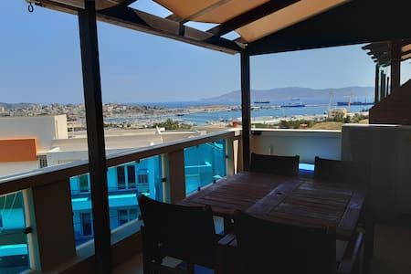 Luxury apartment with view over the port.