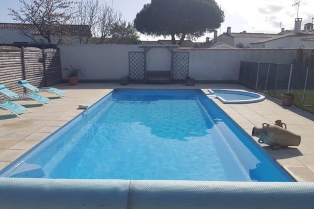 piscine 10x5m chauffée