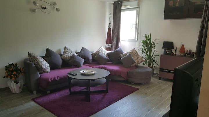 T2 terrasse sans vis à vis +bain jacuzzi+pkg privé