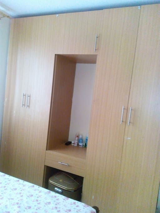 Wardrobe and drawers for clothing and jewelry suitable