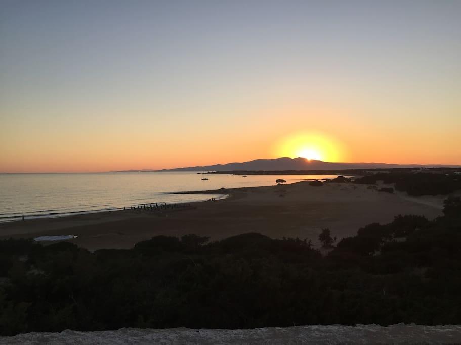sunset at Pirgaki-studio's view
