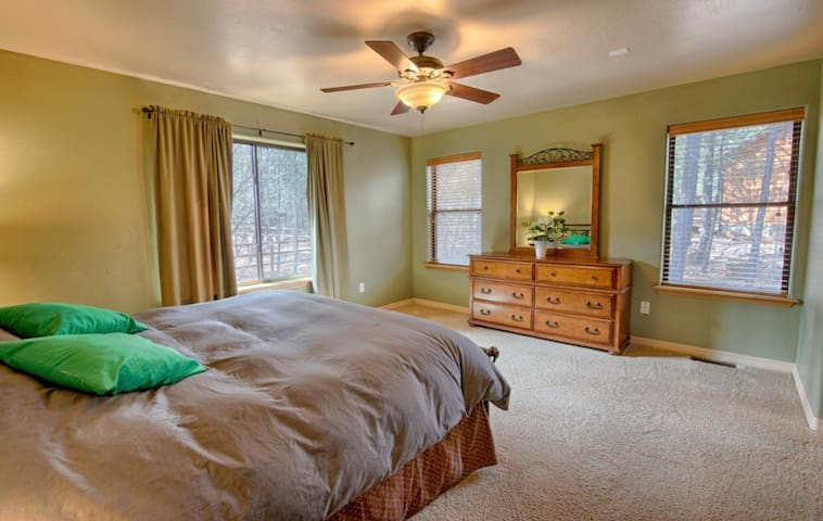 Roomy master bedroom suite