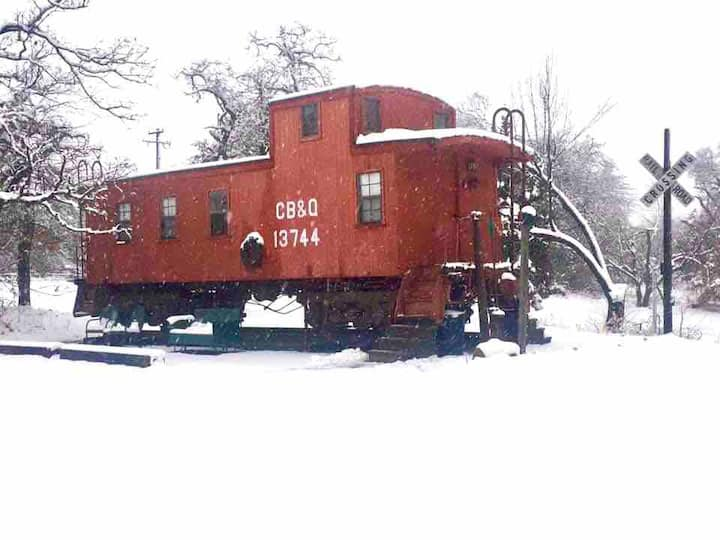 Route 66 Oklahoma City 1925 Red Caboose