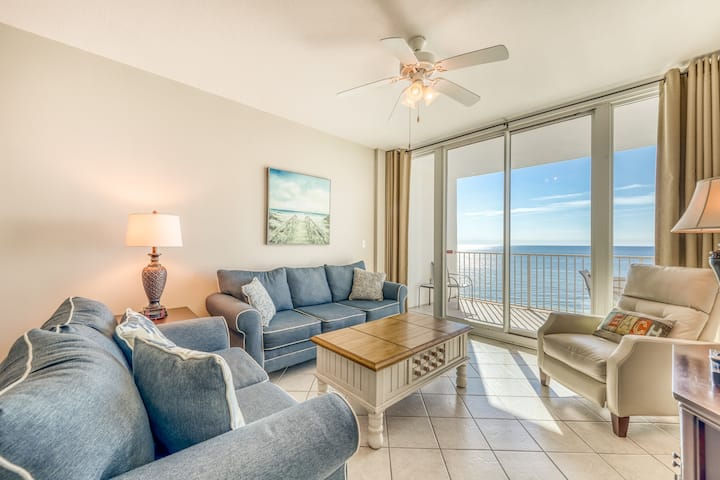 Gulf-front condo w/ beachside pools, sauna, hot tubs & fitness center!