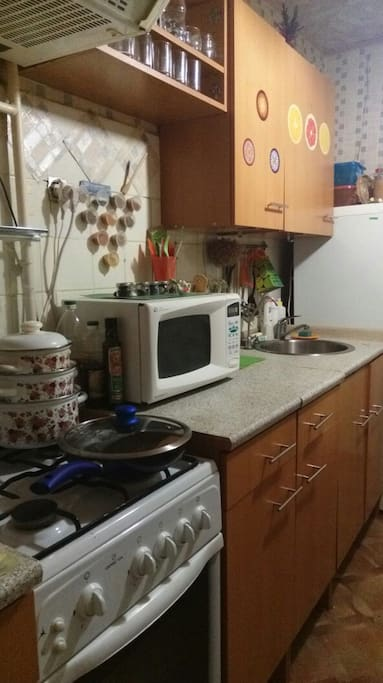 кухня, плита, посуда
