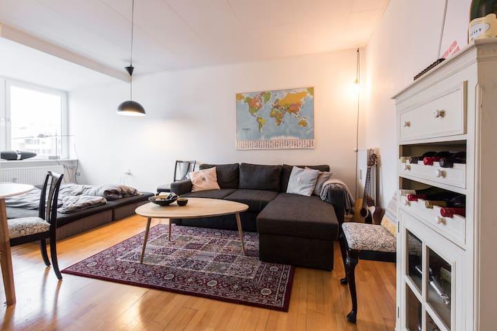 Cozy apartment with balcony near Botanical Garden - Aarhus - Apartment