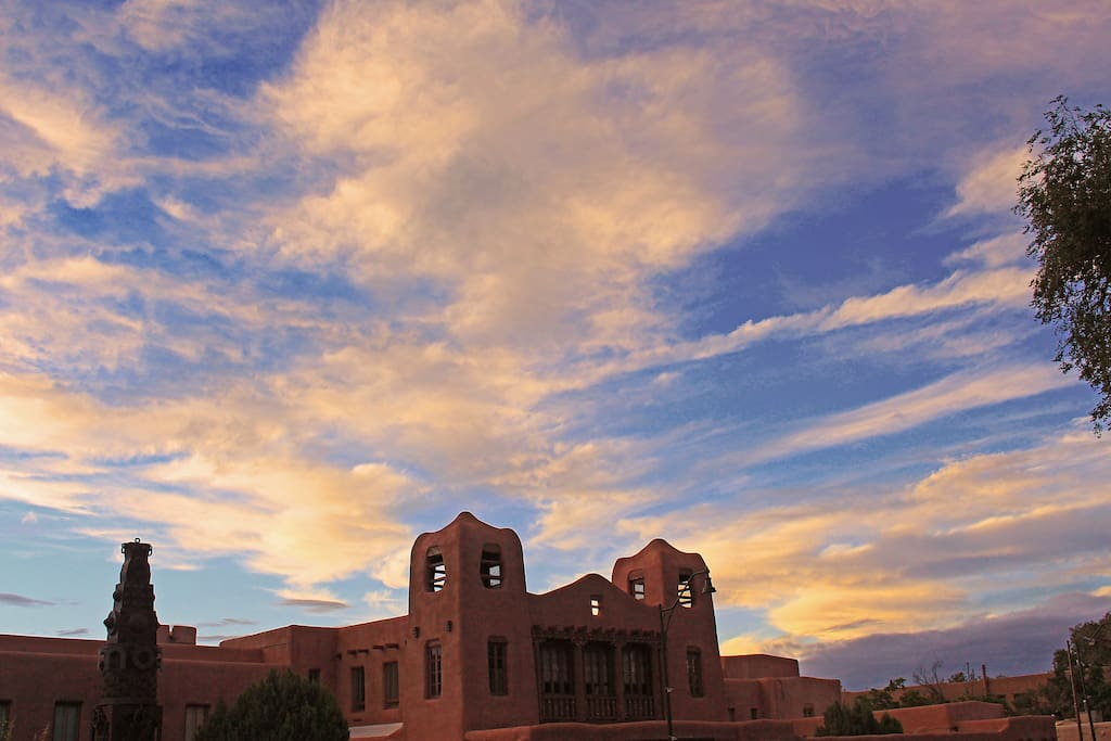 One of Santa Fe's beautiful skies.