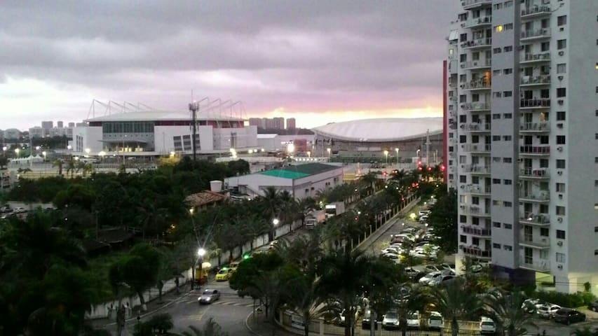 Vista do parque olímpico.