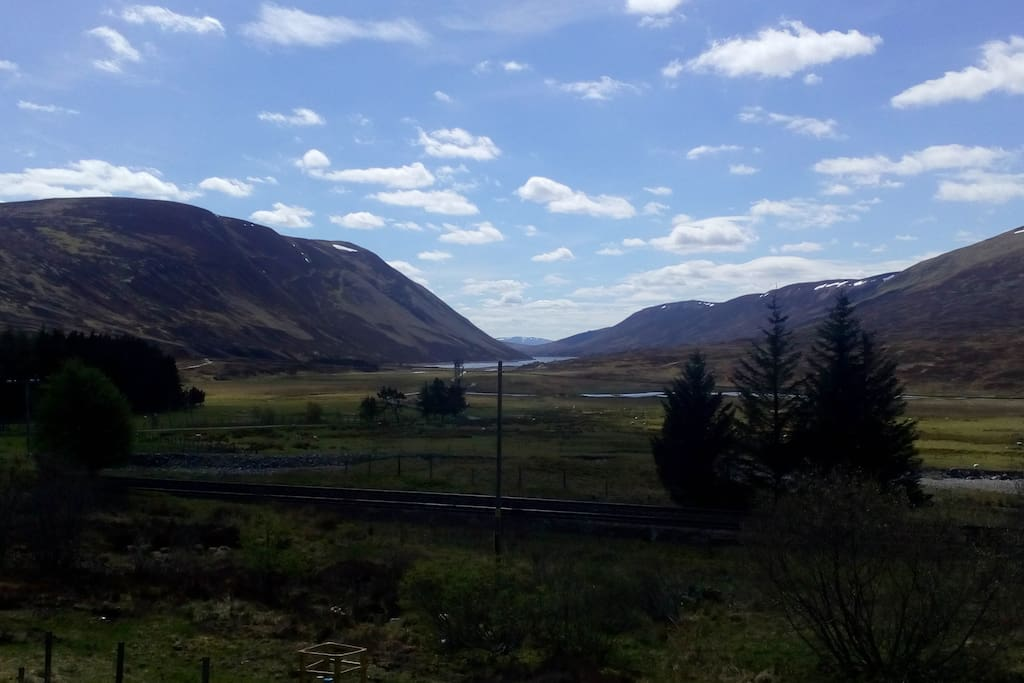 Looking west over Loch Garry