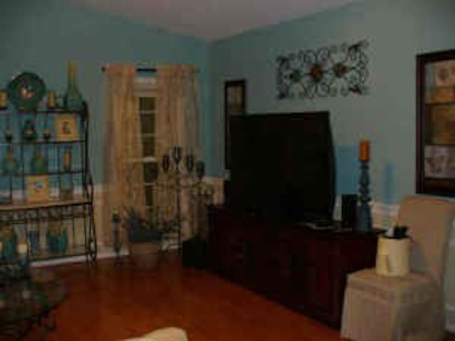 Family room furnished with cable TV and wireless internet