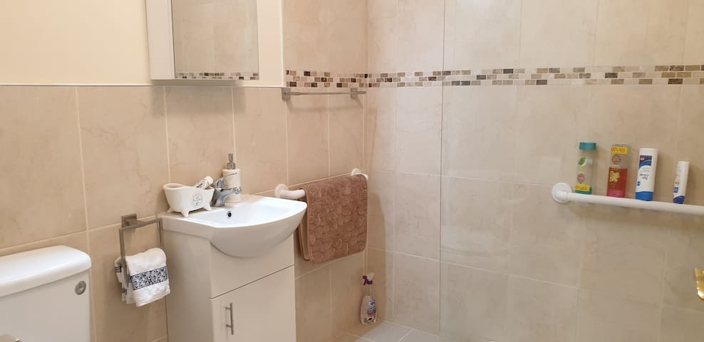 Shared bathroom which is also wheelchair accessible.