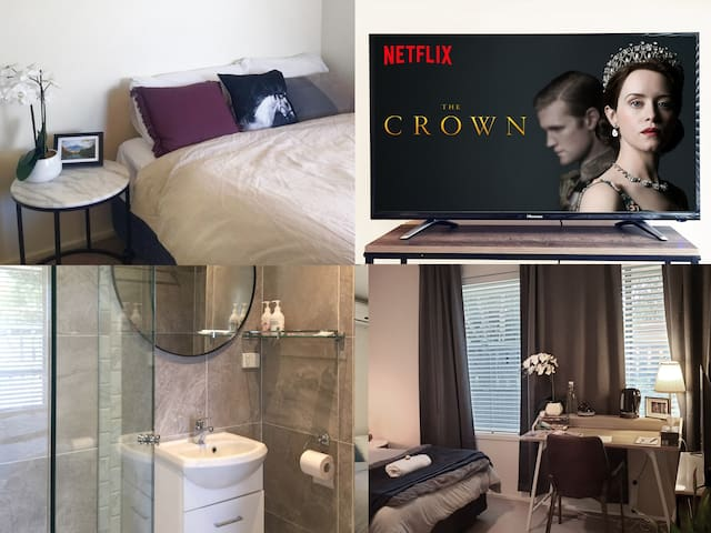 Ensuite - Self Check in, AC, Netflix, Free Laundry