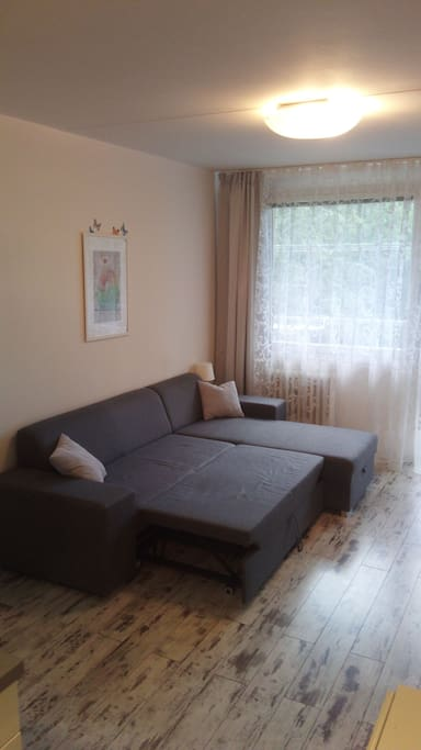 Living room with sofa for two people