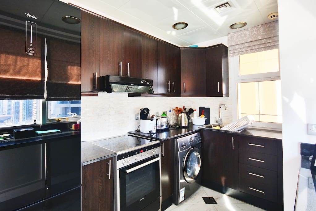 Fully equipped kitchen with high-tech appliances