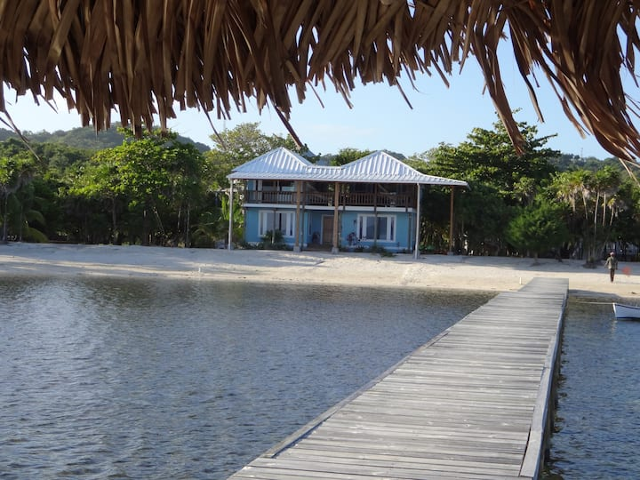 Toucan Blue beach house just steps from the sea