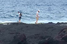 Set against the cobalt ocean you can hike for miles along the black Puna Coast. Become mesmerized by the limitless designs Pele created  In the lava rock as you are sprayed with cool, clean Hawaiian ocean water.