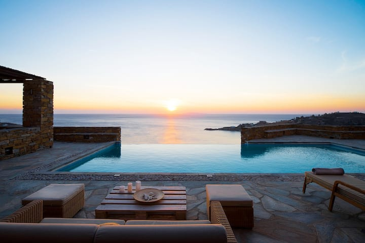 Luxury Villa Petra-Infinity Pool-3' from the Beach