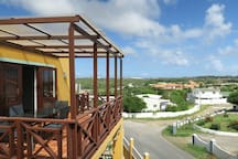 What a view! The balcony is the perfect place for coffee, wine, and selfies!