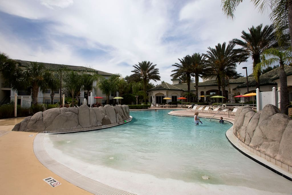 Tropical Pool at Legacy Dunes with zero level entry