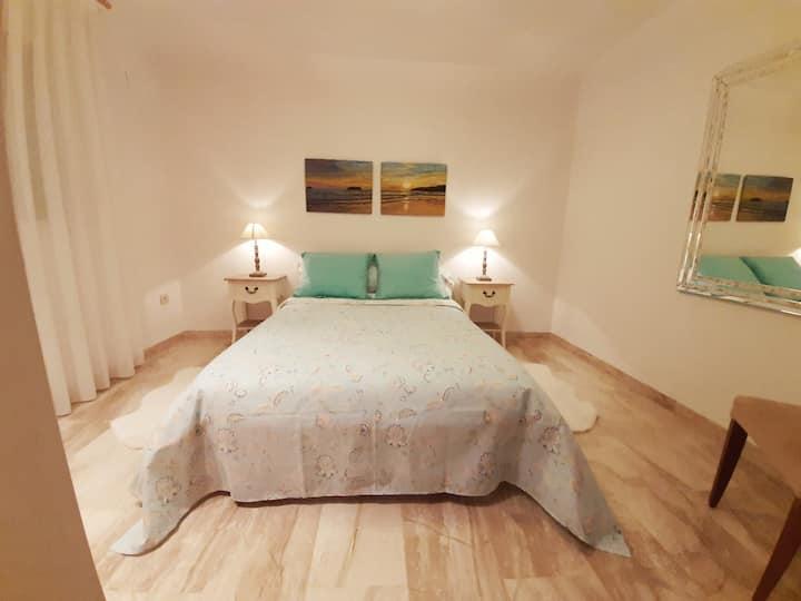Habitación doble confortable, cálida  y tranquila