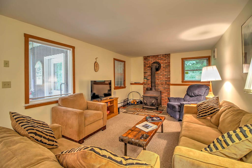 Escape to Vermont woods at this Bridgewater Corners vacation rental apartment.