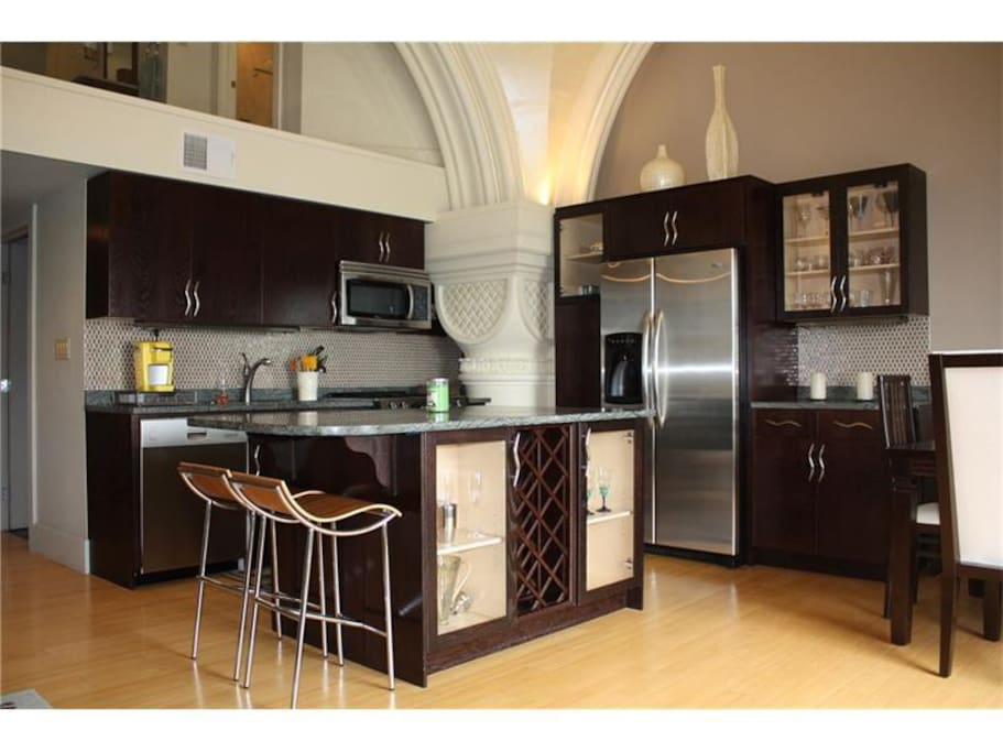 Fully-appointed modern kitchen