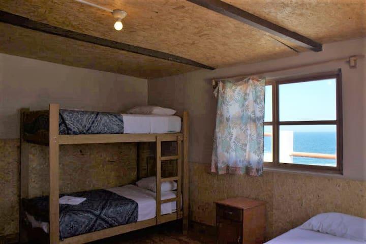 Habitación familiar en Hotel en la playa