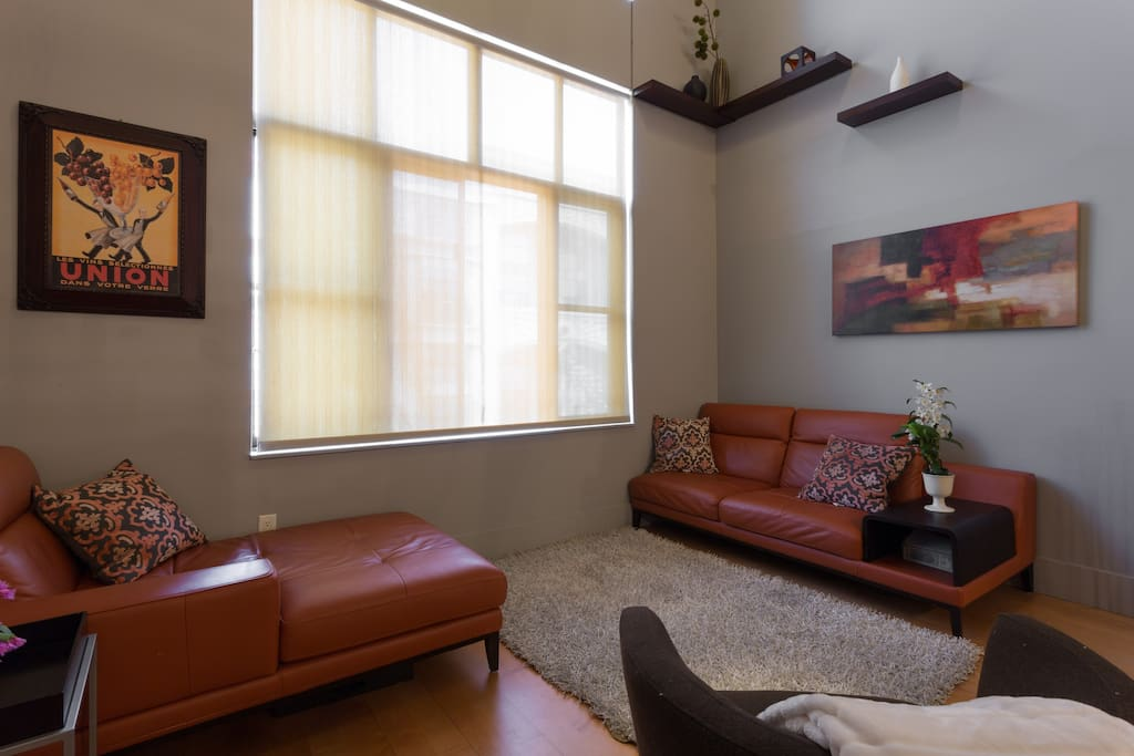 Living Room with Love Seat and Chase