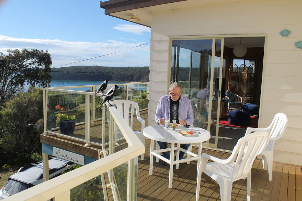Top deck with full views from Pambula beach to Merimbula short point