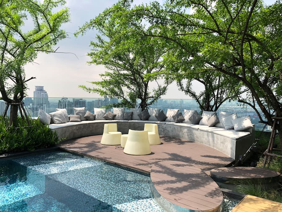 Chill out beside the sky pool, perfect place for sun bath in slow life mode.