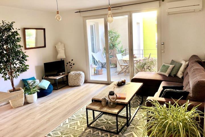 Un chouette appart avec terrasse à Montpellier