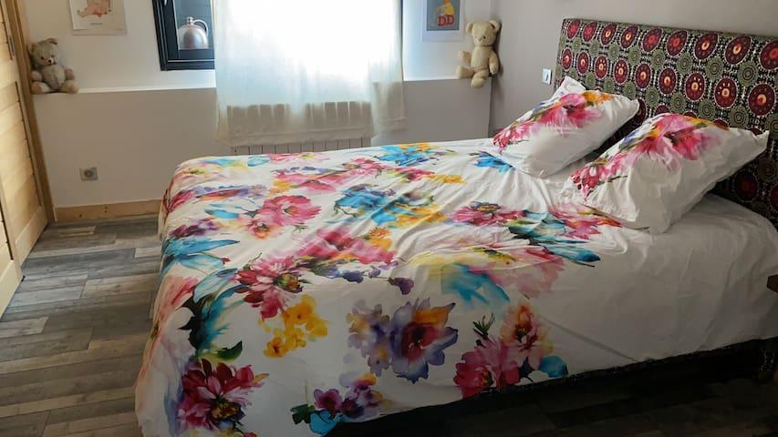 Chambre double avec grand placard lit 160