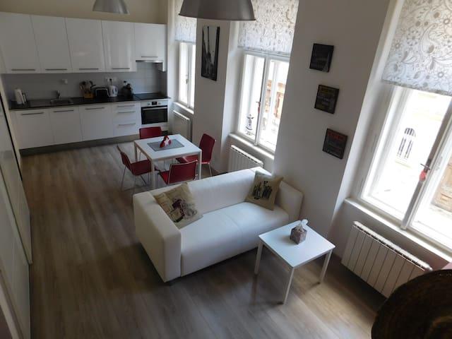 Krásný byt,výborná lokalita(tram 1min, metro 5min) - Prague - Apartment