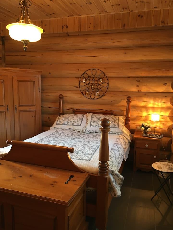 Nature maison en bois rond