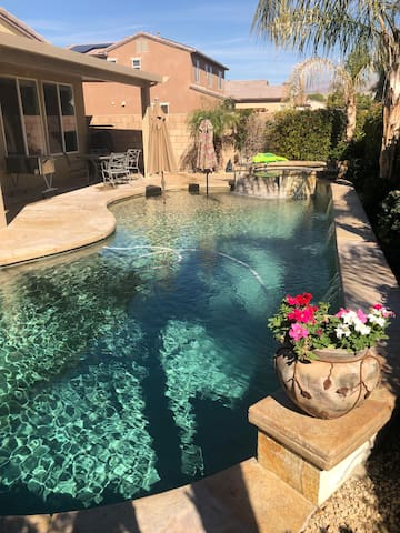 Private 4 BR/3BA home with salt water pool