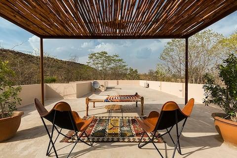 3 BHK Villa w/Mountain View+Pvt Lawn+Patio@ Jaipur