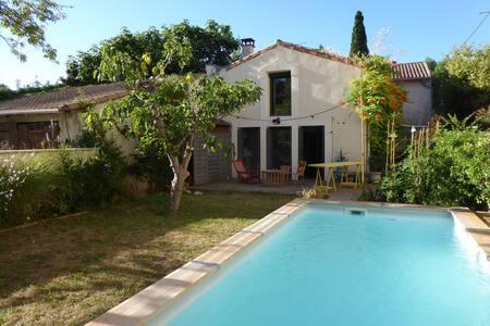 Maison de village de charme avec piscine - Grabels