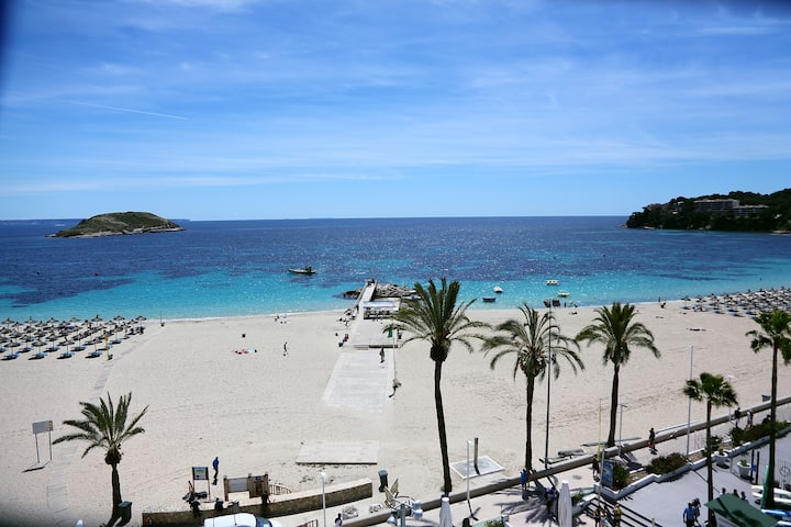 Calvia beach 1st line with see view