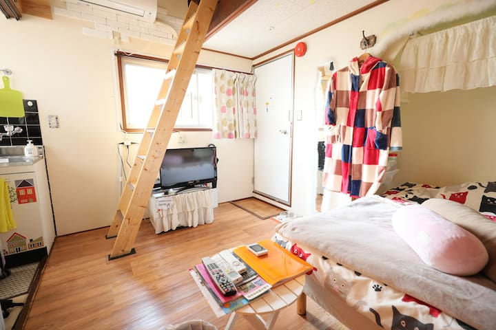 ShinOsaka 2min!! Private room 201 - Osaka - Appartement