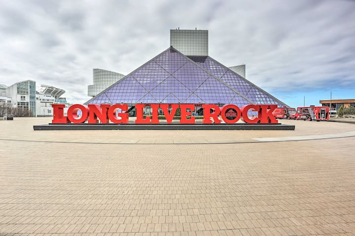 Peruse the iconic Rock & Roll Hall of Fame!