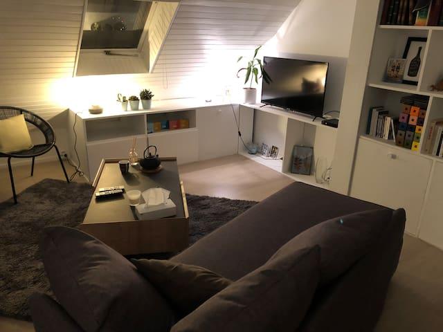 Chambre privative appartement cosy 10min de Paris