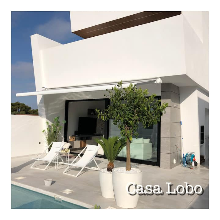 Casa Lobo, private pool, near to the beach, luxery
