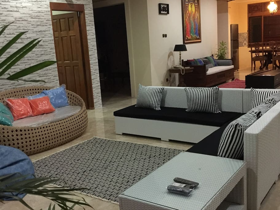 Family room with TV cable