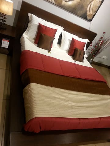 Room with home amenities