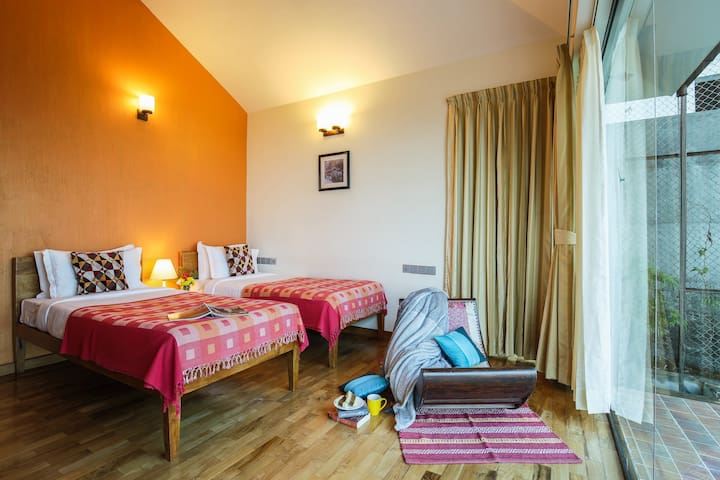 Our twin room is perfect for kids or two adults