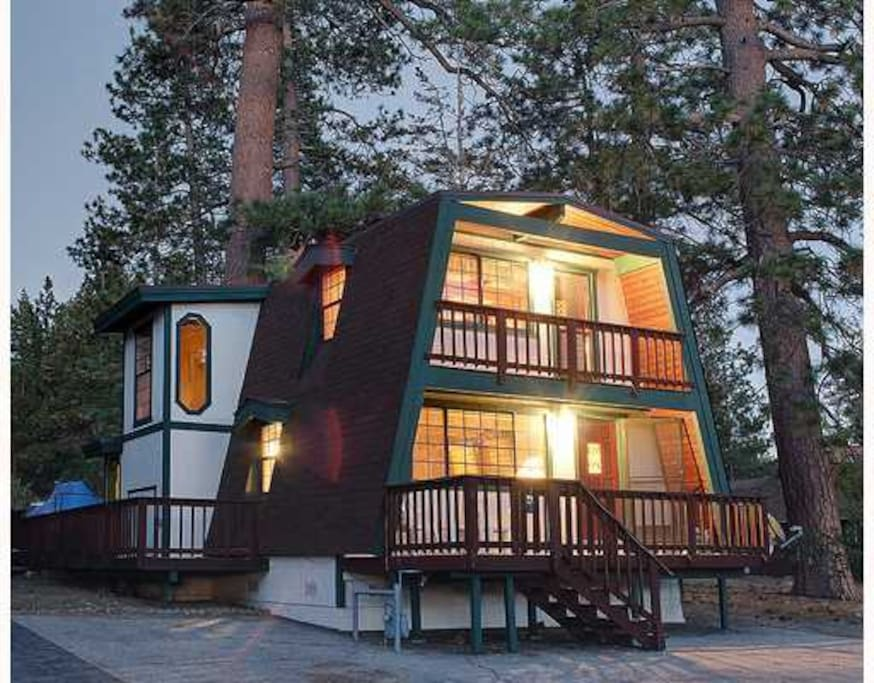 5 min walk to lake 1 mile to village cozy cabin cabins for Big bear village cabins