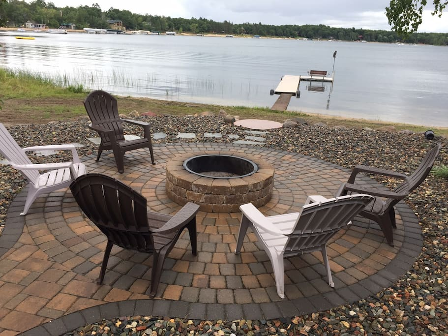 New fire pit and patio