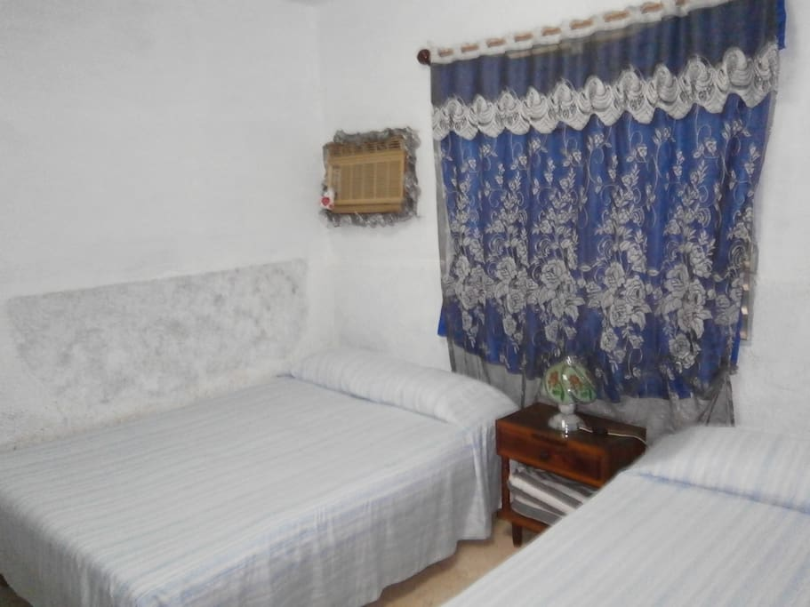 vista de las dos camas