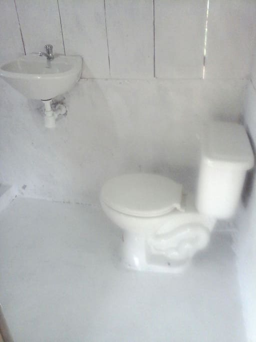 the bathroom of the bungalow