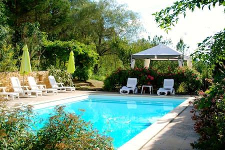 Beautiful 180 year old farmhouse with pool. - Saint-Front-sur-Lémance - บ้าน